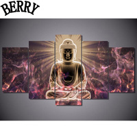 5ps Set DIY Diamond Embroidery Buddha 5D Diamond Painting Cross Stitch 3D Diamond Mosaic Pattern Decoration