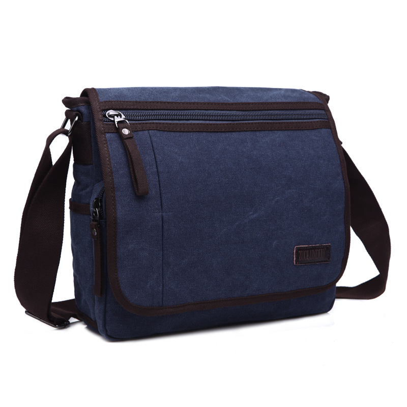 High Quality Men Canvas Bag Casual Travel Men Crossbody Bag Men Messenger Bags Large Capacity kujing canvas men s bag high quality cowboy large capacity travel men handbag retro shoulder messenger bag luxury men casual bag