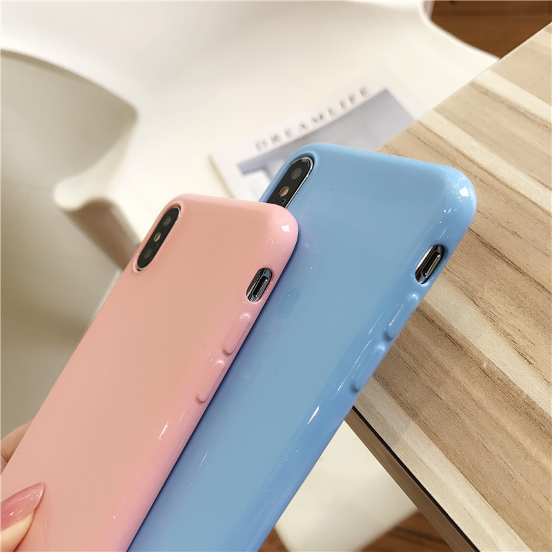 Silicone Glitter Powder TPU Soft Candy Color Cover Phone Cases For Samsung Galaxy S9 S8 Plus S7 S6 Edge Note 9 8 Back Protect in Fitted Cases from Cellphones Telecommunications