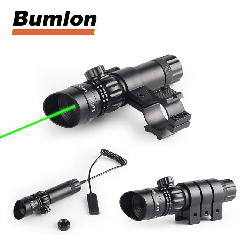 Outside Adjustment Red / Green Laser Sight Dot Scope with Free 20mm Dovetail Mount 8 Figure Mounts RL3-0004