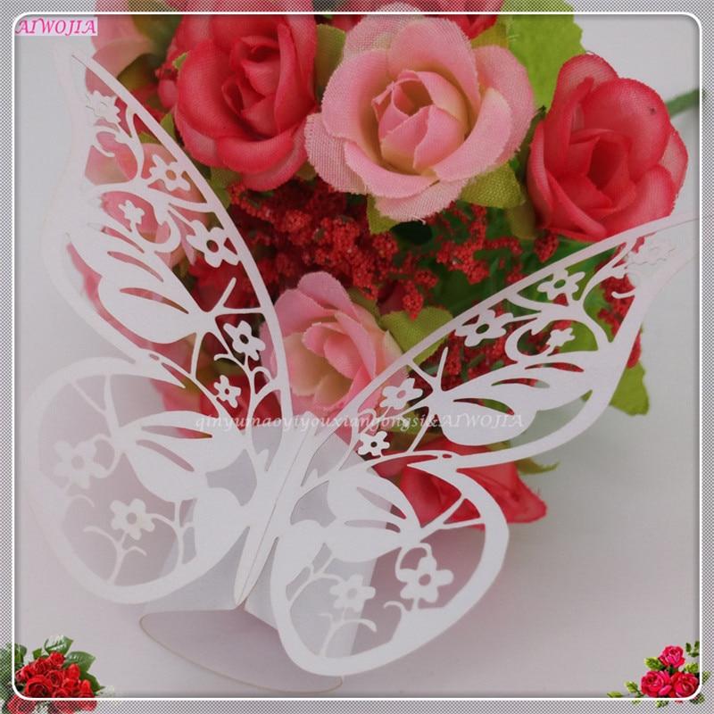 mariposa de papel para bodas suministros fuentes del partido anillos de servilleta de la boda