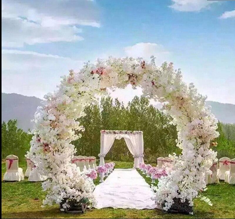 Свадебный дом вишневые арки круглая Цветочная дверь ферма искусственные ветки