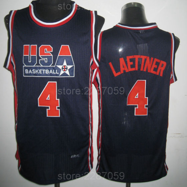 3e9d2ea6de57 ... czech ediwallen high top 4 christian laettner 1992 usa basketball  jerseys dream team men sale navy