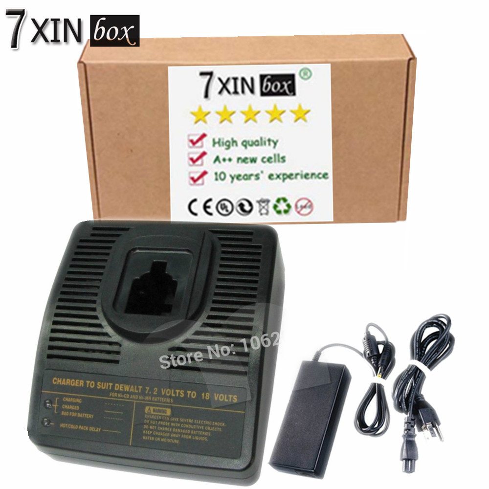 7XINbox Replacement Power Tool Battery Charger for Dewalt Ni CD Ni Mh 7 2V to 18V