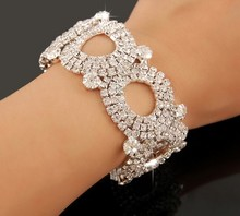 10pcs/lot New arrival! Bridal acrylic Crystal wedding Bracelet party Jewelry Accessories Bangle jb085