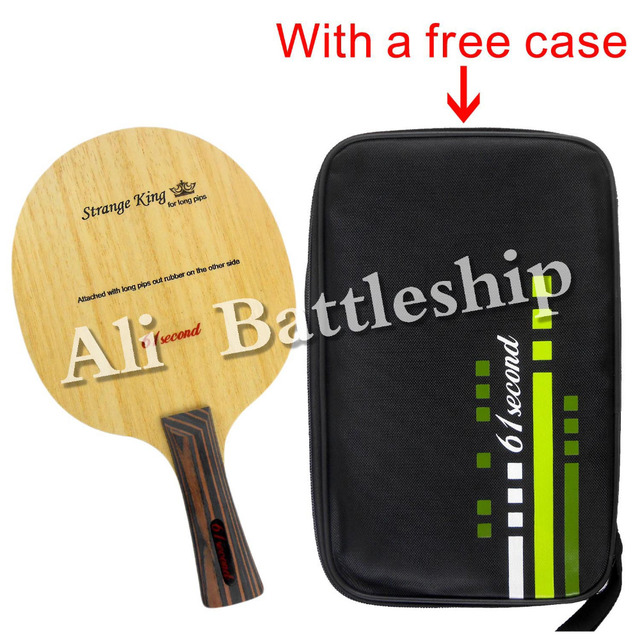 Original 61second Strange King Table Tennis racket blade Ping Pong bat Blade with a free case cover for Long rubber