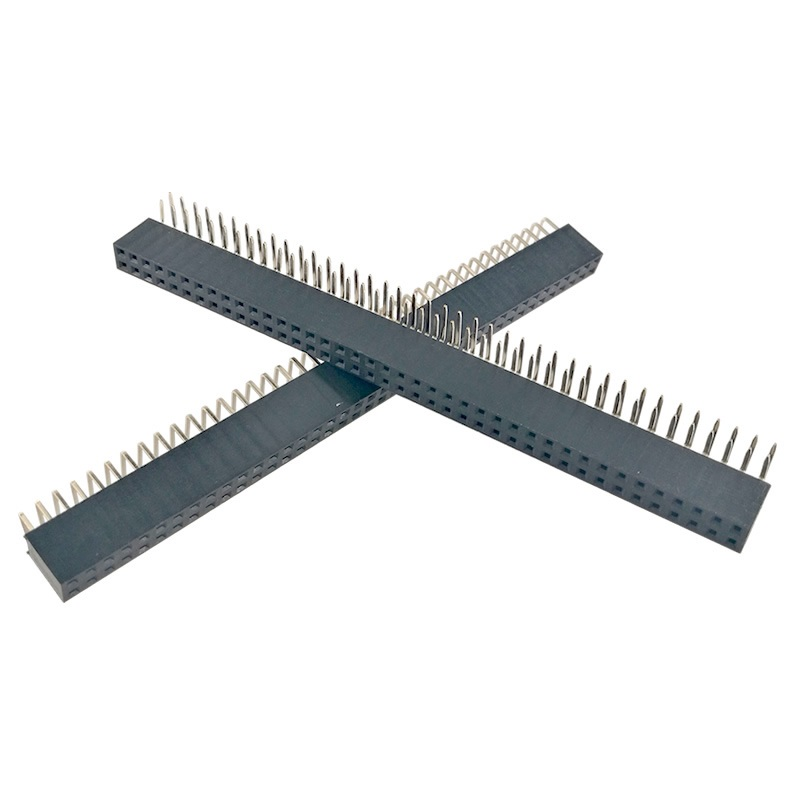 100pcs Rohs 2.54mm 2*6 R 2.54 2x6 Female Double 90 Degree Bending Cab Looper Right Angle Connector Integrated Circuits Active Components
