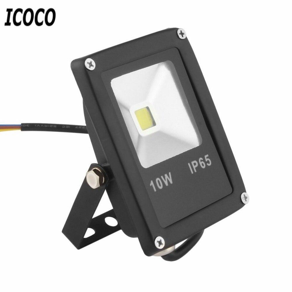 10W Waterproof LED Floodlight Outdoor Spotlight Flood Light AC 85V-265V IP65 Lighting Lamp Wall Washer Lamp Reflector Floodlight