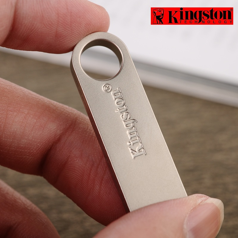 Kingston Usb Flash Drive gb 32 16gb DataTraveler Digitais SE9 Memória pendrive USB 2.0 Flash memoria Vara de Metal personalizado cle usb