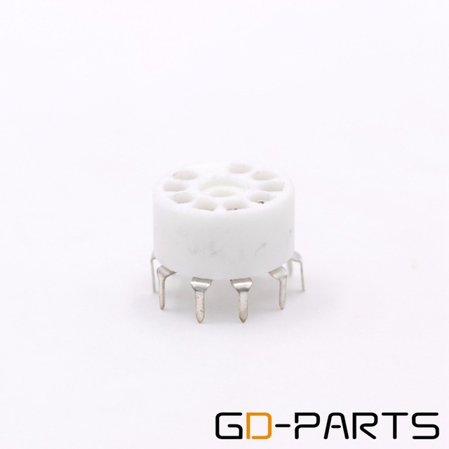 10PCS Ceramic 9pin B9A PCB MOUNT Tube Socket FOR 12AX7 12AT7 12AU7 6DJ8 ECC82 5670 6922 Hifi Audio Vintage AMP DIY