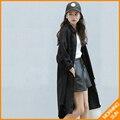 2017 осень женская новый Корейский Harajuku BF ветер джинсовый жакет длинные свободные пальто #4247