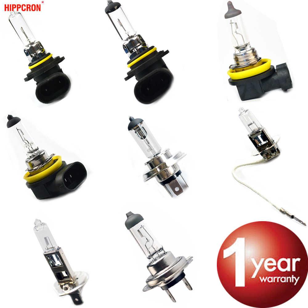 Hippcron автомобильные галогеновые лампы 12 V 35 Вт/55 Вт 60 Вт прозрачное 1 шт. H1 H3 H4 H7 H8 H11 9005 HB3 9006 HB4 Автомобильные светодиодные лампы фар