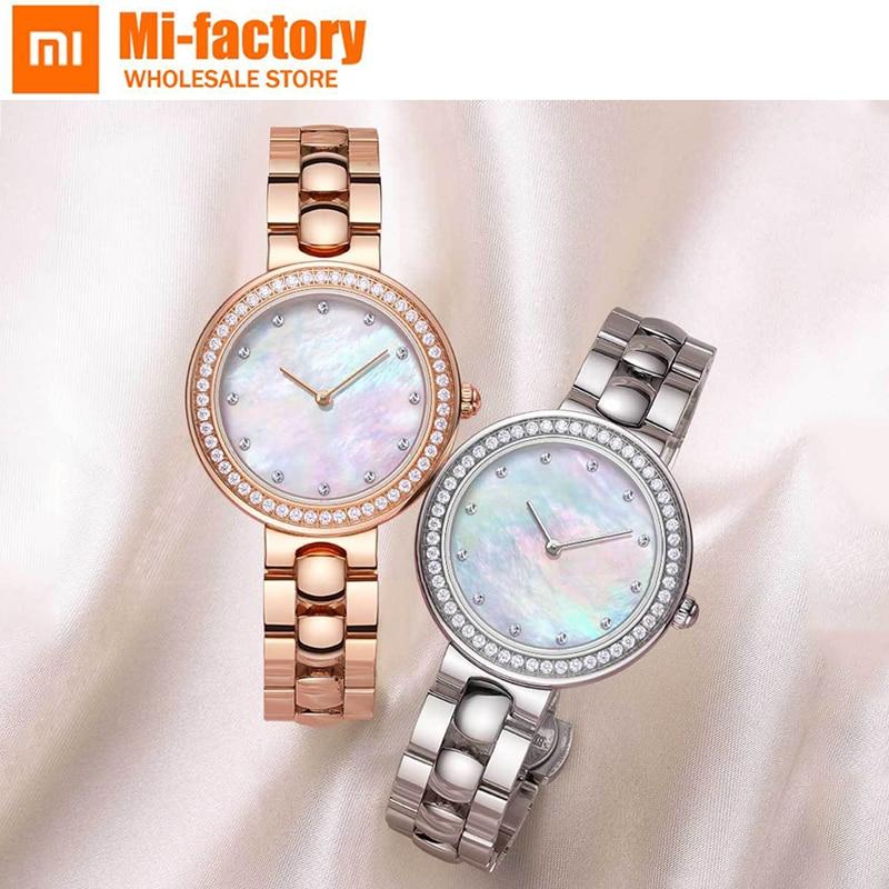 New Xiaomi Mija TwentySeventeen Crystal Quartz watch Women watch Diamond Luxury brand Bracelet Wristwatch ladies Gift Package amica luxury crystal diamond blue shell dial womens quartz watch ladies watch