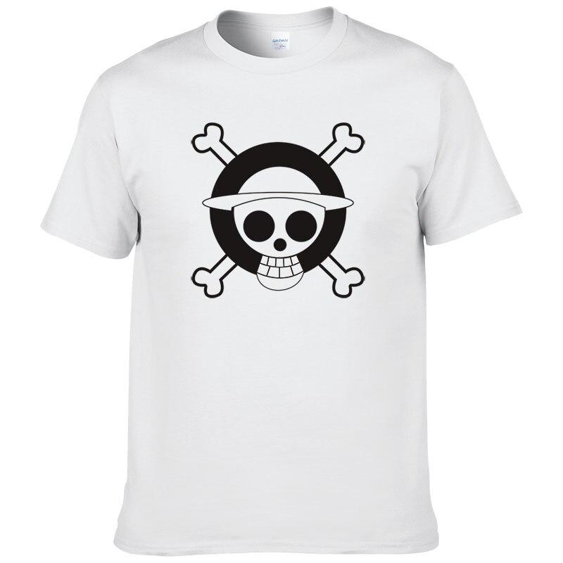 2017 Мультфильм Аниме One piece Mark футболка Для мужчин летняя хлопковая футболка с короткими рукавами Повседневное Футболки XSM
