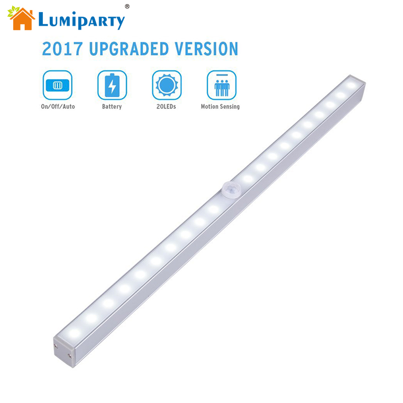LED Motion Sensor Closet Light 20 LED Wireless Activated Night Light Under Cabinet Lighting Wall Lamp Battery Operated cob led wall lamp rotary switch night light adjustable wireless closet cordless lamp battery operated wardrobe light
