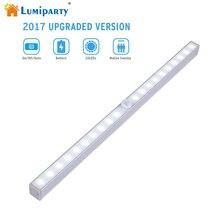 Lumiparty Motion Sensor Closet Light 20 LED Wireless Activated Night Light Under