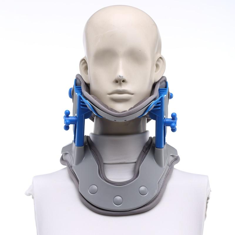 Electric heat cervical traction suport brace ajutable