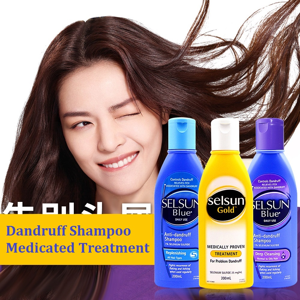 Selsun Gold Schuppen Medicated Shampoo Behandlung Anti Schuppen dermatitis Shampoo Entlasten Flaking Juckreiz Kühlt Kopfhaut