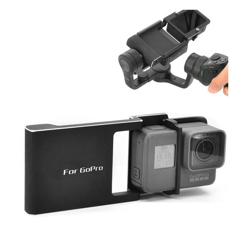 For Gopro Go pro Hero 5 4 3 3+ Xiaoyi 4K Adapter switch mount plate for DJI osmo mobile gimbal Smartphone handheld accessories