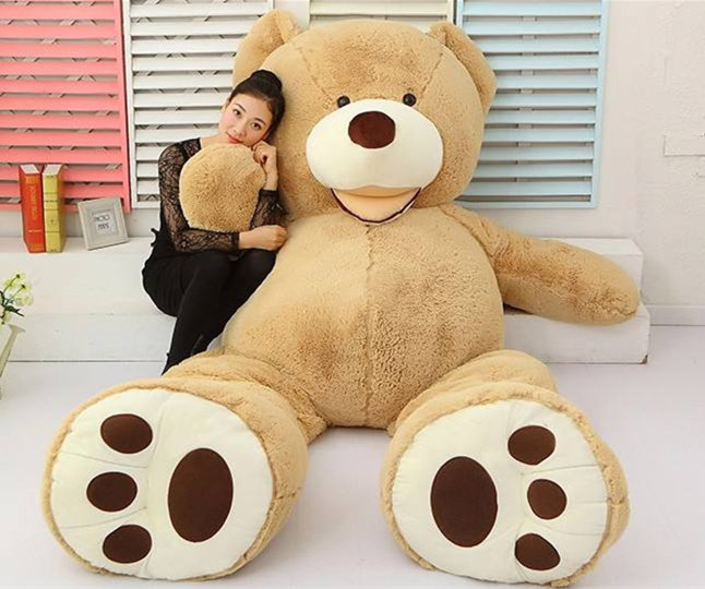 [ Funny ] 200cm Huge big America bear Stuffed animal teddy bear cover plush soft doll pillow cover ( without stuff ) baby toys
