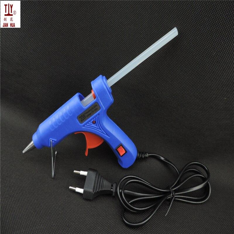 20 Вт ЕС вилку термоклей Пистолеты для склеивания с бесплатным 1 шт. 7 мм Клей-карандаш промышленных мини Пистолеты термо-электрический тепла температура инструмент