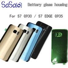 10 sztuk dla Samsung Galaxy S7 krawędzi G935 S7 G930 tylna pokrywa baterii drzwi obudowa wymiana naprawa części + soczewka aparatu tylnego obiektyw