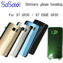 10pcs For Samsung Galaxy S7 Edge G935 S7 G930 Battery Back Cover Door Housing Replacement Repair Parts + rear Camera Glass Lens