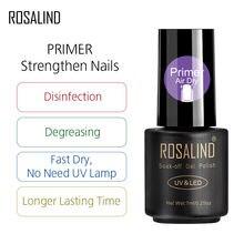 Verniz semi permanente projetado para o polonês uv acrílico da beleza do manicure pregos secos rápidos do primer do verniz 7ml do prego de rosalind embebe fora
