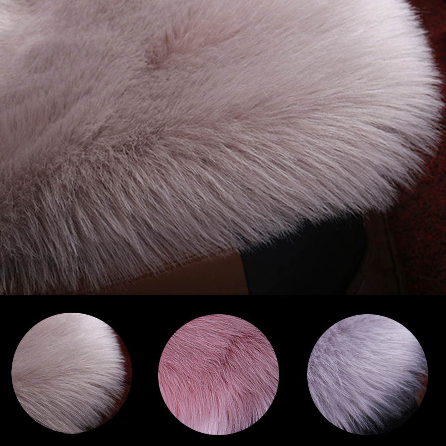 Front and Back Pink Color Universal Car Seat Cover Furry Fluffy Thick Faux Plush Warm Seat Pad Car Styling in Automobiles Seat Covers from Automobiles Motorcycles