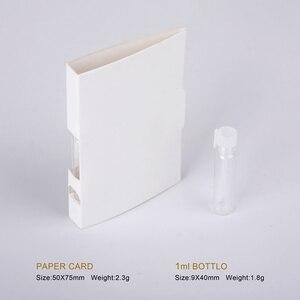 Image 2 - 100 ピース/ロット 1 ミリリットルポータブル詰め替え香水ボトル紙カードスポイトボトルサンプル香りテスト料金をロゴ