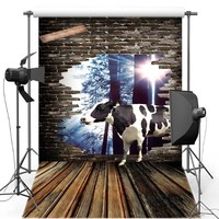 牛風光明媚なビニール写真撮影の背景用子供床新しい生地フランネルの背景用ベビーフォトスタジオS1716