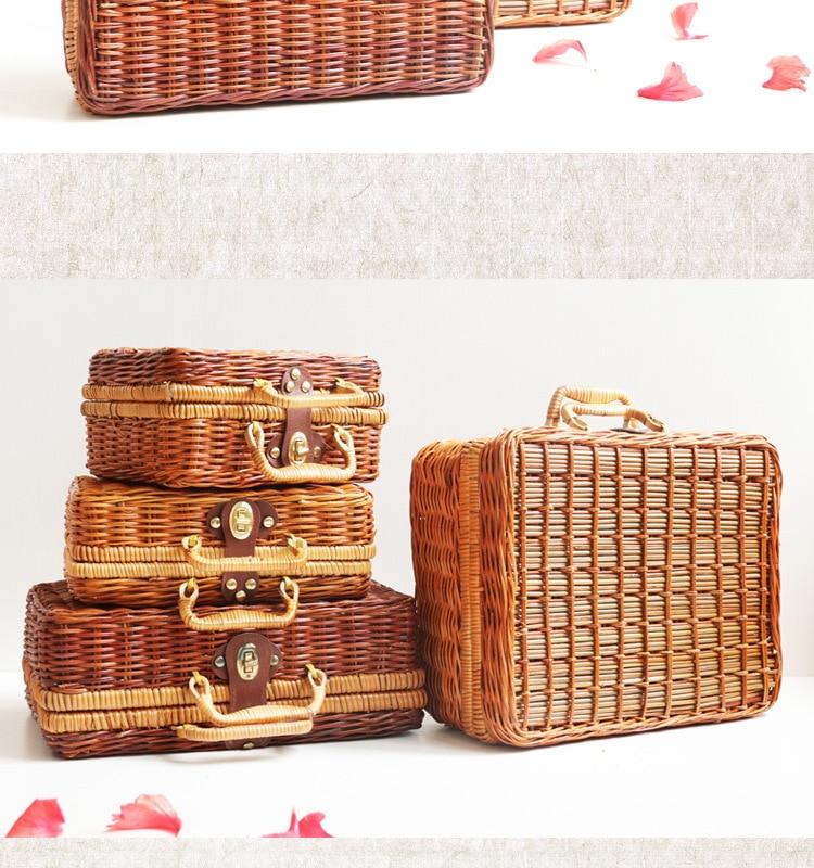 18 Summer Beach Bamboo Bag Straw Women Handbag Handmade Woven Bag Luxury Designer Tote Travel Clutch Lunch Bags snx008 30 OFF 11