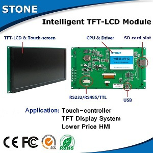 4.3 Inch TFT LCD Display With Touch Screen And Serial Interface For Automatic Instrument