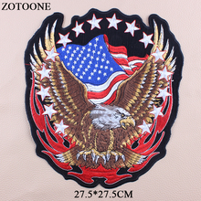 ZOTOONE Us Flag Patch Embroidered Badge Patches Military Tactical Clothing Badges Iron On Big Punk Eagle For Clothes