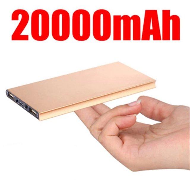 Carregador de bateria externo portátil 20000 mah Banco de Potência de emergência carregador de bateria Dual USB Powerbank de Backup de energia