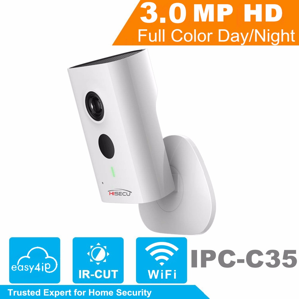 HiSecu 3MP Wifi IP Camera IPC C35 HD 1080p Security Camera Support SD card up to