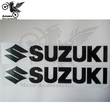 2 PCS carbon fibre color motorcycle decal for suzuki logo motorbike sticker unviersal car styling waterproof dirt pit bike parts