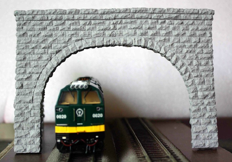 New Arrival Train Model Sandbox Accessories - HO Ratio Double Line Tunnel Mouth Extra-wide, Corner Dedicated