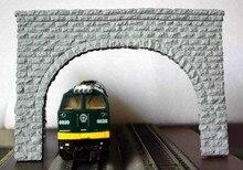 все цены на new arrival Train model sandbox accessories - HO ratio double line tunnel mouth extra-wide, corner dedicated онлайн