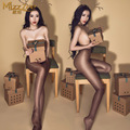 New Sexy Women Perfume Shiny Glossy Oil Stockings High Waist Open Crotch Shaping Pantyhose Leggings Sexy lingerie Pantyhose FX12