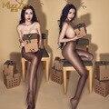 Nueva Sexy Mujeres Perfume Aceite Brillante Brillante Medias de Cintura Alta Leggings Sexy lingerie Abertura entre las piernas Pantimedias Conformación Pantimedias FX12