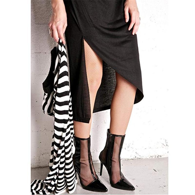 Bout Conception Bottes 2019 Party Chaussures Marque Femmes 43 Sexy Haute Taille Talons Femme Noir Mesh Plus Karinluna Pointu Air Summer wxYRPqXP