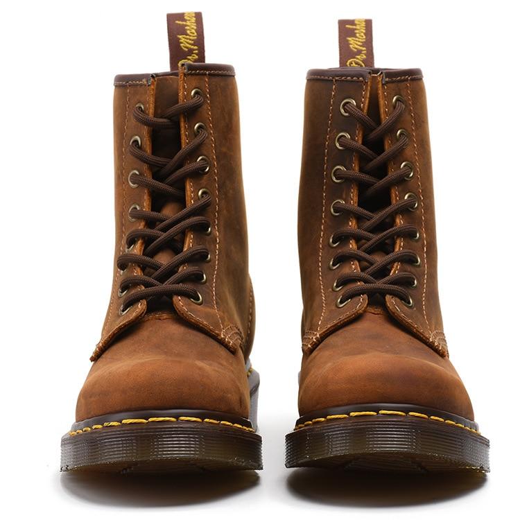 Olpay Couro Botas Chelsea Martens Básico 1460 De Genuíno Cowboy Inverno Homens qXHqRwZ0