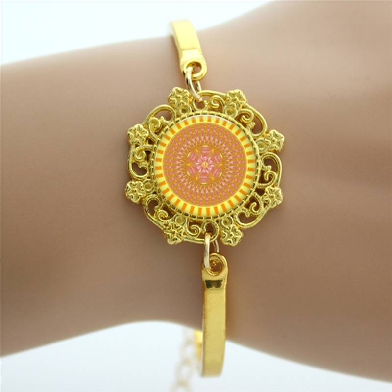 Spring style religion jewelry mandala bracelet Buddhist culture bangle for the believers HT185