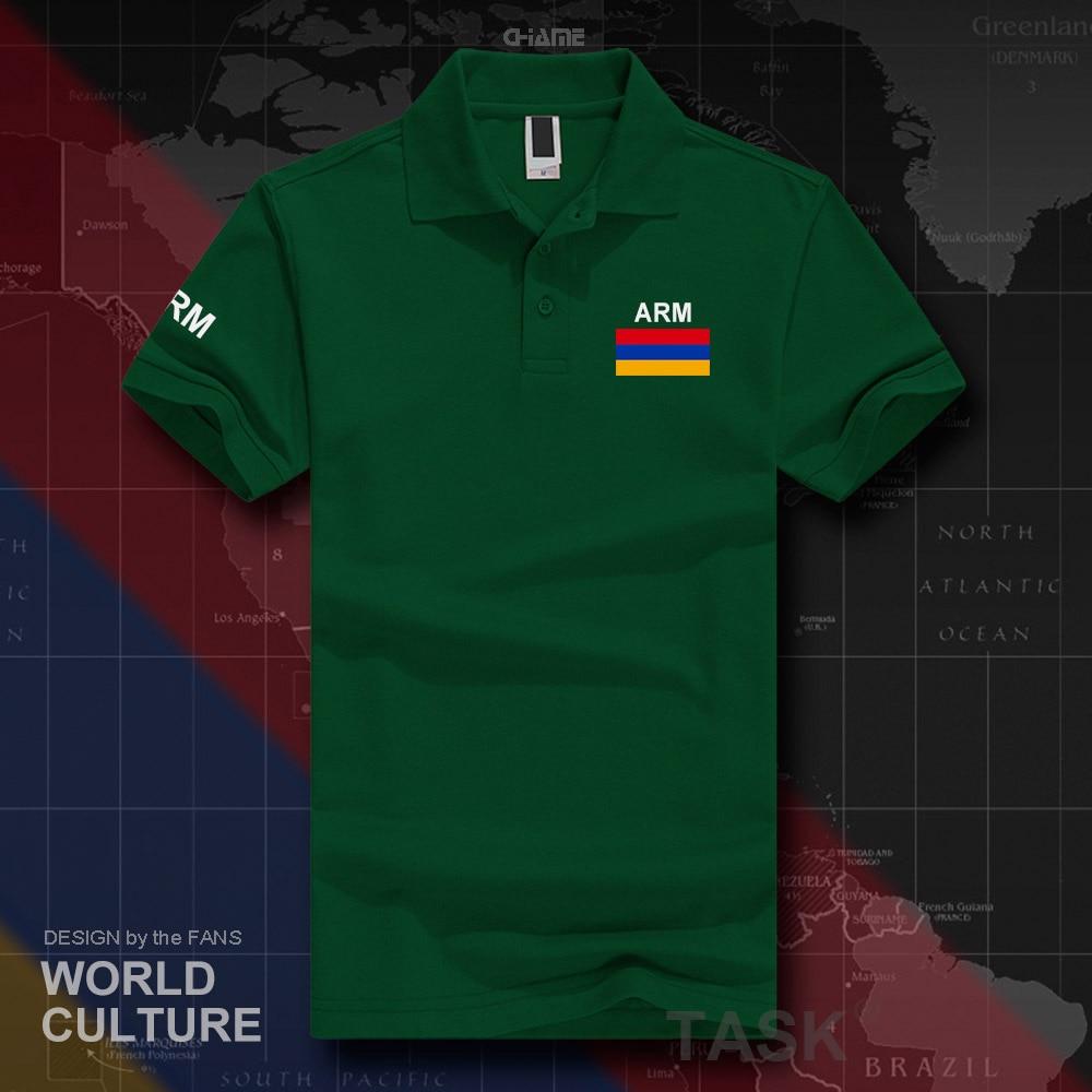 Armenia   polo   shirts men short sleeve white brands printed for country 2017 cotton nation team flag new fashion Armenian ARM