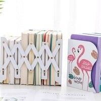 Kreatywna moda chowany Metal Bookends Metal Home Office School Decor Book Storage Rack stojaki na biurko do magazynu, książki, CD
