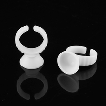 100pcs Plastic White Tattoo Ink Ring For Eyebrow Permanent Makeup S Size Tattoo Ink Holders Tattoo Supplies Hot