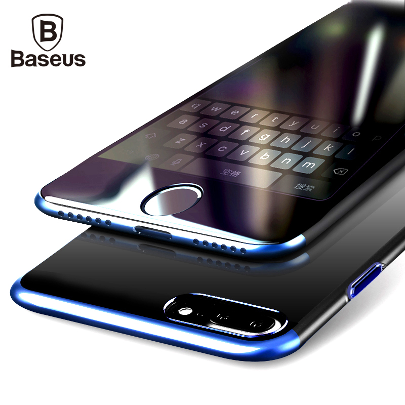 Baseus Caso Duro do PC Para o iphone 8 7 Capa Para o iphone 8 7 Mais Caso Anti-scratch Galvanoplastia Saco Do Telefone de Proteção Shell Coque