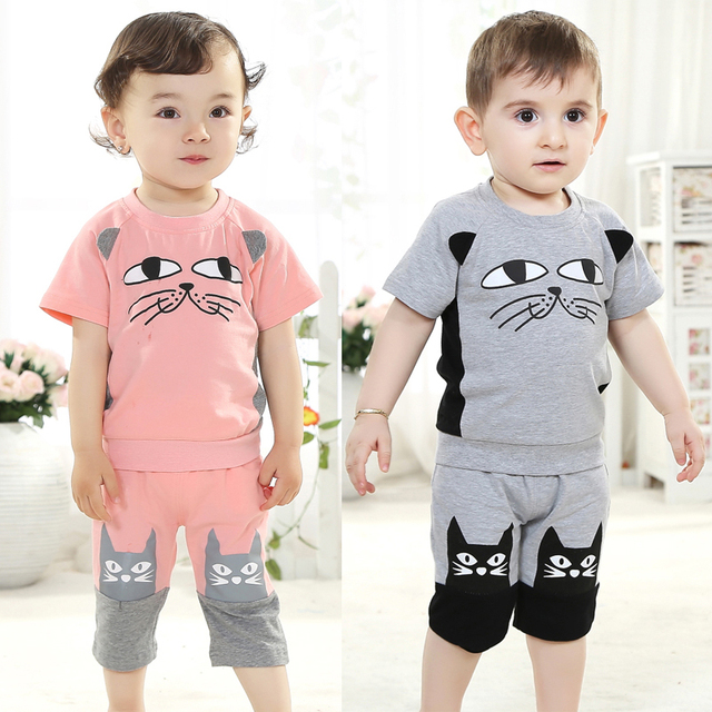 ae9dc137 Summer baby clothes 0-1 year old female summer bb infant clothes 6  children's clothing 1 - 2 years old baby boy set