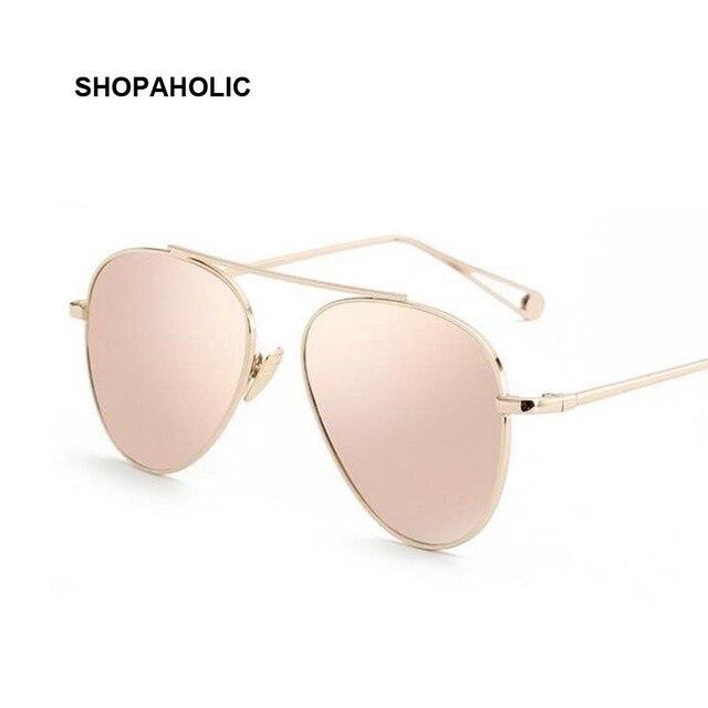 Aviação Óculos De Sol Das Mulheres Designer de luxo Espelho Do Vintage Óculos de Sol Retro para Mulheres Ladies Oval Óculos De Sol Feminino Oculos